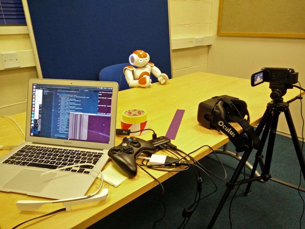 Photo: Puppeteering with Nao