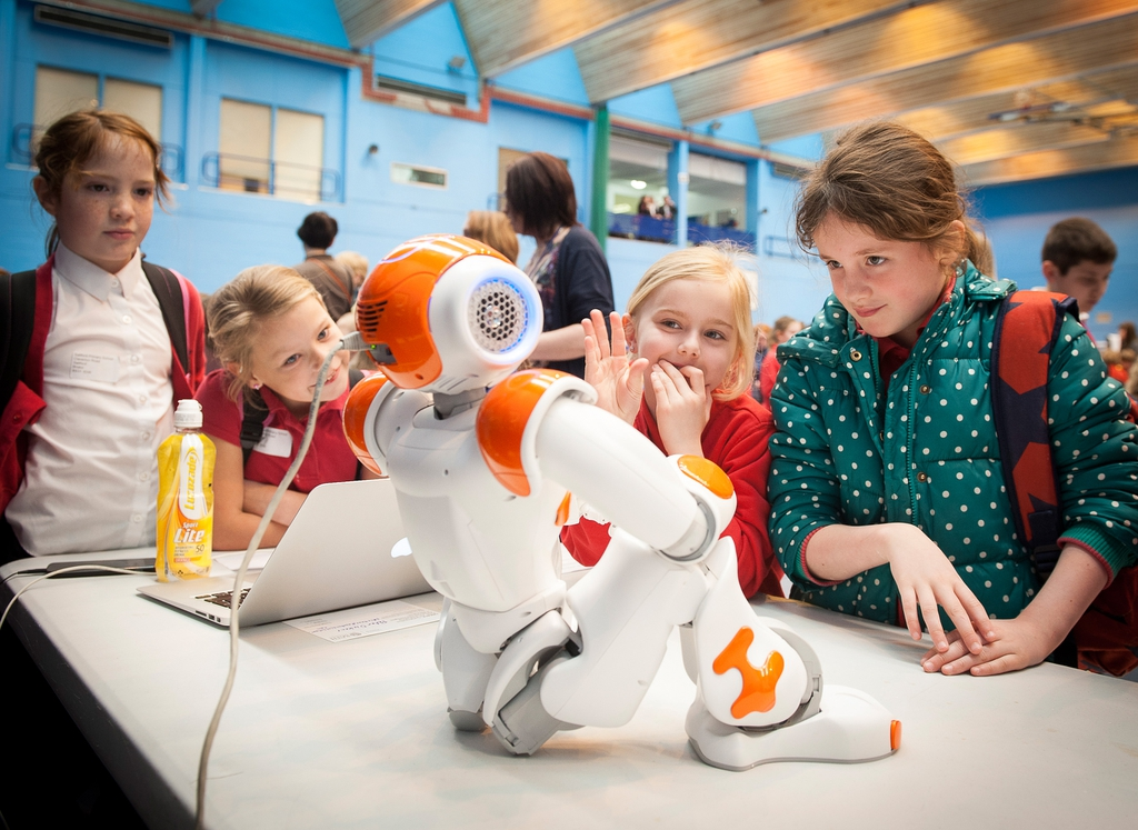 Photo: Meeting the children: Nao @ Bath Taps into Science